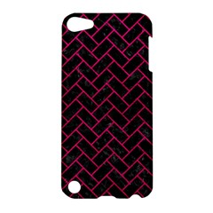 Brick2 Black Marble & Pink Leather (r) Apple Ipod Touch 5 Hardshell Case by trendistuff