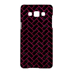 Brick2 Black Marble & Pink Leather (r) Samsung Galaxy A5 Hardshell Case  by trendistuff
