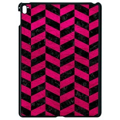 Chevron1 Black Marble & Pink Leather Apple Ipad Pro 9 7   Black Seamless Case by trendistuff
