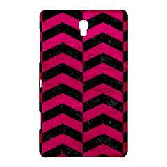 Chevron2 Black Marble & Pink Leather Samsung Galaxy Tab S (8 4 ) Hardshell Case  by trendistuff