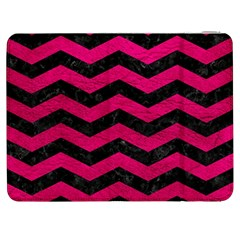 Chevron3 Black Marble & Pink Leather Samsung Galaxy Tab 7  P1000 Flip Case by trendistuff