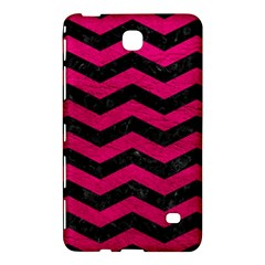 Chevron3 Black Marble & Pink Leather Samsung Galaxy Tab 4 (8 ) Hardshell Case  by trendistuff