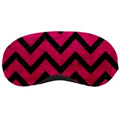 Chevron9 Black Marble & Pink Leather Sleeping Masks by trendistuff