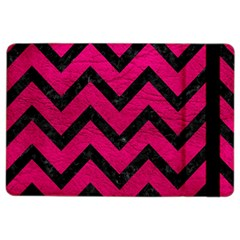Chevron9 Black Marble & Pink Leather Ipad Air 2 Flip by trendistuff