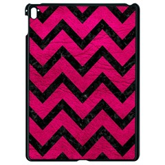 Chevron9 Black Marble & Pink Leather Apple Ipad Pro 9 7   Black Seamless Case by trendistuff