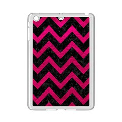 Chevron9 Black Marble & Pink Leather (r) Ipad Mini 2 Enamel Coated Cases by trendistuff