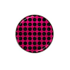 Circles1 Black Marble & Pink Leather Hat Clip Ball Marker (10 Pack) by trendistuff