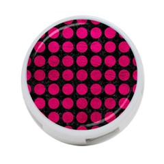 Circles1 Black Marble & Pink Leather (r) 4 Port Usb Hub (one Side) by trendistuff