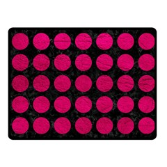 Circles1 Black Marble & Pink Leather (r) Fleece Blanket (small) by trendistuff