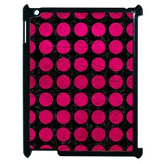 Circles1 Black Marble & Pink Leather (r) Apple Ipad 2 Case (black) by trendistuff