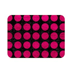 Circles1 Black Marble & Pink Leather (r) Double Sided Flano Blanket (mini)  by trendistuff
