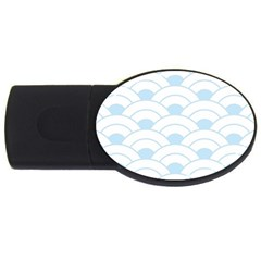 Blue,white,shell,pattern Usb Flash Drive Oval (2 Gb) by 8fugoso