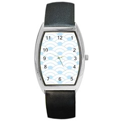 Blue,white,shell,pattern Barrel Style Metal Watch by 8fugoso