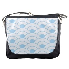Blue,white,shell,pattern Messenger Bags by 8fugoso