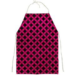 Circles3 Black Marble & Pink Leather (r) Full Print Aprons by trendistuff