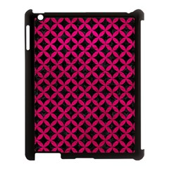 Circles3 Black Marble & Pink Leather (r) Apple Ipad 3/4 Case (black) by trendistuff