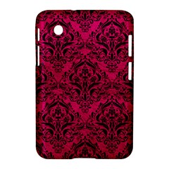 Damask1 Black Marble & Pink Leather Samsung Galaxy Tab 2 (7 ) P3100 Hardshell Case  by trendistuff