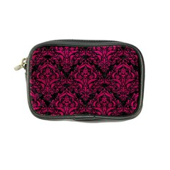 Damask1 Black Marble & Pink Leather (r) Coin Purse by trendistuff