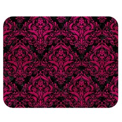Damask1 Black Marble & Pink Leather (r) Double Sided Flano Blanket (medium)  by trendistuff