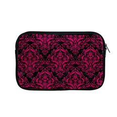 Damask1 Black Marble & Pink Leather (r) Apple Macbook Pro 13  Zipper Case by trendistuff