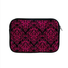 Damask1 Black Marble & Pink Leather (r) Apple Macbook Pro 15  Zipper Case by trendistuff