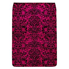 Damask2 Black Marble & Pink Leather Flap Covers (l)  by trendistuff