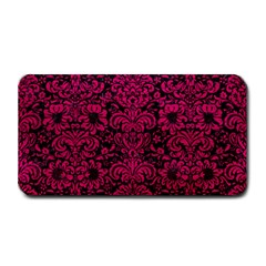 Damask2 Black Marble & Pink Leather (r) Medium Bar Mats by trendistuff