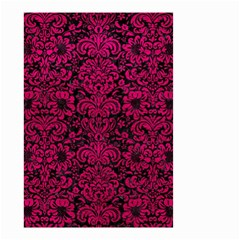Damask2 Black Marble & Pink Leather (r) Small Garden Flag (two Sides)