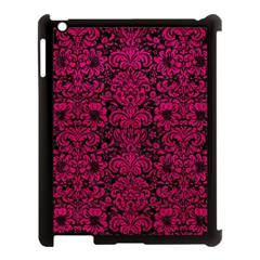 Damask2 Black Marble & Pink Leather (r) Apple Ipad 3/4 Case (black) by trendistuff