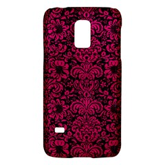 Damask2 Black Marble & Pink Leather (r) Galaxy S5 Mini by trendistuff