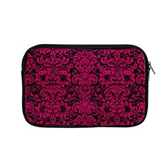 Damask2 Black Marble & Pink Leather (r) Apple Macbook Pro 13  Zipper Case by trendistuff