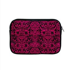 Damask2 Black Marble & Pink Leather (r) Apple Macbook Pro 15  Zipper Case by trendistuff