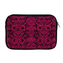 Damask2 Black Marble & Pink Leather (r) Apple Macbook Pro 17  Zipper Case by trendistuff