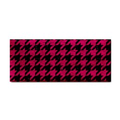 Houndstooth1 Black Marble & Pink Leather Cosmetic Storage Cases by trendistuff
