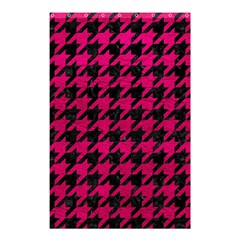 Houndstooth1 Black Marble & Pink Leather Shower Curtain 48  X 72  (small)  by trendistuff