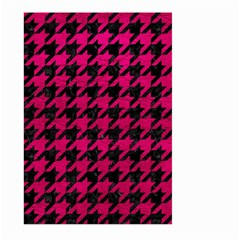 Houndstooth1 Black Marble & Pink Leather Large Garden Flag (two Sides) by trendistuff