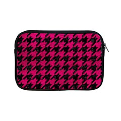Houndstooth1 Black Marble & Pink Leather Apple Ipad Mini Zipper Cases by trendistuff
