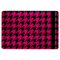 Houndstooth1 Black Marble & Pink Leather Ipad Air 2 Flip by trendistuff