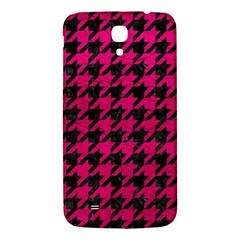 Houndstooth1 Black Marble & Pink Leather Samsung Galaxy Mega I9200 Hardshell Back Case by trendistuff