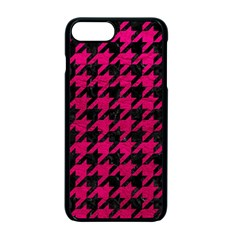 Houndstooth1 Black Marble & Pink Leather Apple Iphone 7 Plus Seamless Case (black) by trendistuff