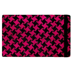 Houndstooth2 Black Marble & Pink Leather Apple Ipad 3/4 Flip Case by trendistuff