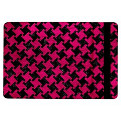 Houndstooth2 Black Marble & Pink Leather Ipad Air Flip by trendistuff