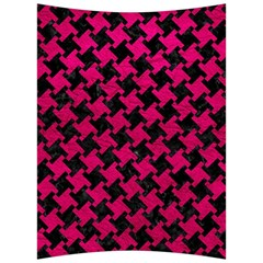 Houndstooth2 Black Marble & Pink Leather Back Support Cushion by trendistuff