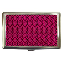 Hexagon1 Black Marble & Pink Leather Cigarette Money Cases by trendistuff