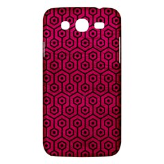 Hexagon1 Black Marble & Pink Leather Samsung Galaxy Mega 5 8 I9152 Hardshell Case  by trendistuff