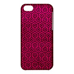 Hexagon1 Black Marble & Pink Leather Apple Iphone 5c Hardshell Case by trendistuff