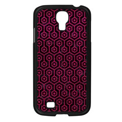 Hexagon1 Black Marble & Pink Leather (r) Samsung Galaxy S4 I9500/ I9505 Case (black) by trendistuff