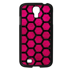 Hexagon2 Black Marble & Pink Leather Samsung Galaxy S4 I9500/ I9505 Case (black) by trendistuff