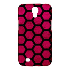 Hexagon2 Black Marble & Pink Leather Samsung Galaxy Mega 6 3  I9200 Hardshell Case by trendistuff