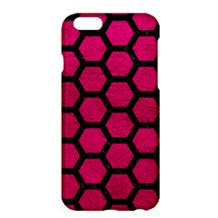 Hexagon2 Black Marble & Pink Leather Apple Iphone 6 Plus/6s Plus Hardshell Case by trendistuff